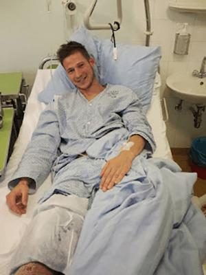 Tadej Grilc_operacija kolena